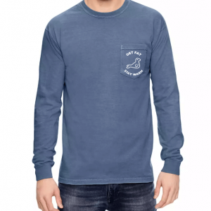 Front of Get Fat, Stay Warm with Seal on front pocket from Other Side Casual Military Apparel