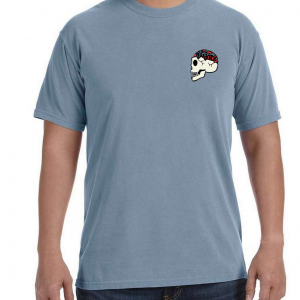 Front of Mindset Tee with Skull on chest by Other Side Military Apparel